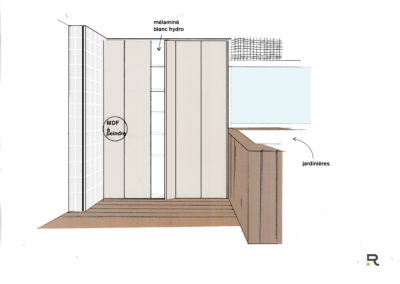 drawing plan placard agencement terrasse